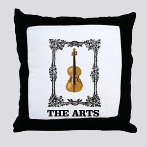 fiddle and the Arts Throw Pillow