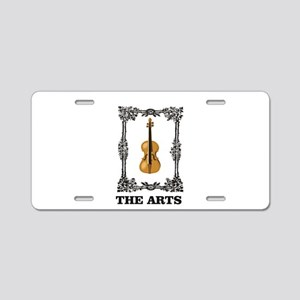 fiddle and the Arts Aluminum License Plate