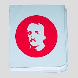 Edgar Allan Poe Simplified Illustrati baby blanket