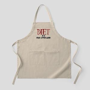 Diet Four Letter Word Apron