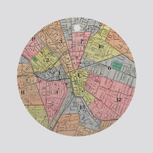 Vintage Map of Rochester NY (1901) Round Ornament