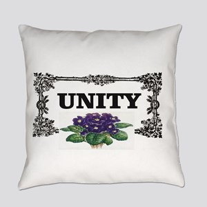 unity flowers black and white Everyday Pillow