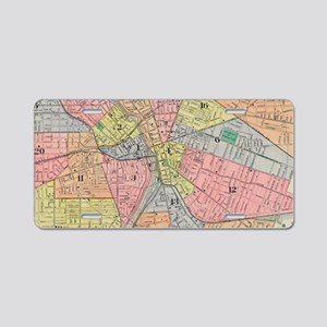 Vintage Map of Rochester NY Aluminum License Plate