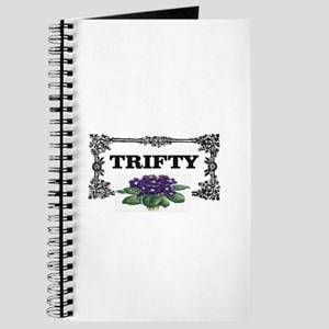 thrifty purple flowers Journal