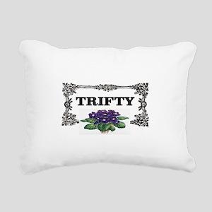 thrifty purple flowers Rectangular Canvas Pillow