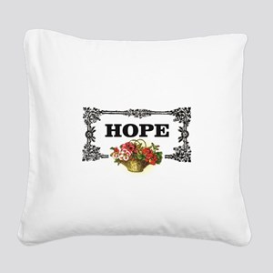 flowers of hope in rectangle Square Canvas Pillow