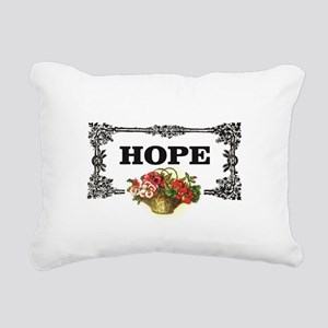 flowers of hope in recta Rectangular Canvas Pillow