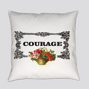 red courage in a frame Everyday Pillow