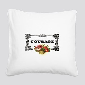 red courage in a frame Square Canvas Pillow