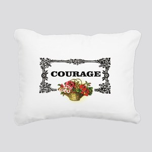red courage in a frame Rectangular Canvas Pillow
