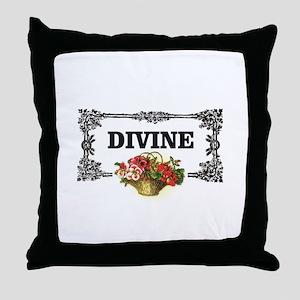 divine flowers art Throw Pillow