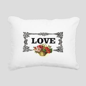 love flower basket box Rectangular Canvas Pillow