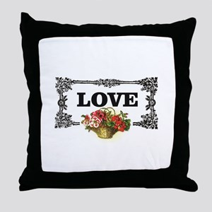 love flower basket box Throw Pillow