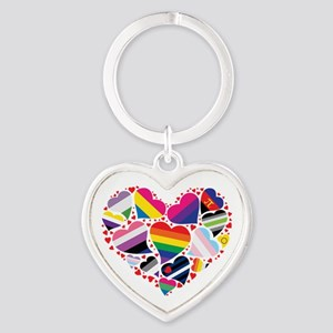 All Pride Heart Keychains