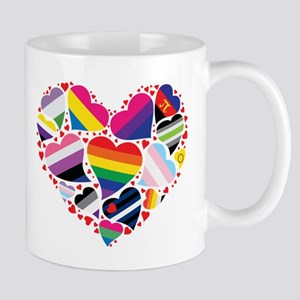 All Pride Heart Mugs