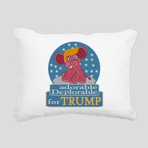 Adorable Deplorable Rectangular Canvas Pillow