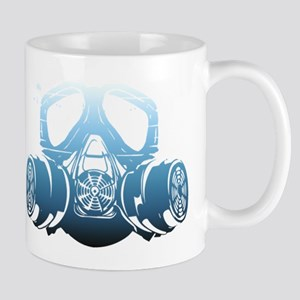 Toxic Blue Gas Spray Paint Mask Coffee Mug Mugs
