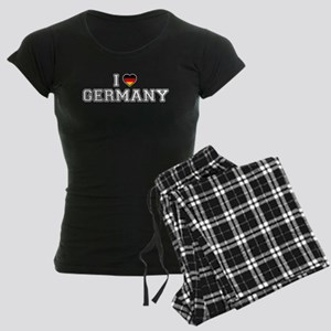 I Love Germany Women's Dark Pajamas