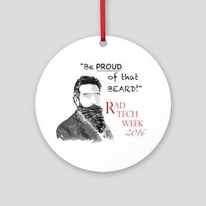 Xray Week Beard Guy 2016 Round Ornament