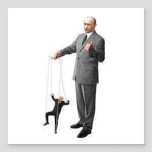 "Putin Pulls the Strings Square Car Magnet 3"" x 3"""