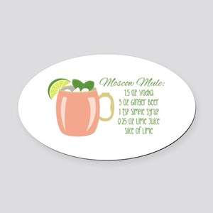 Moscow Mule Recipe Oval Car Magnet