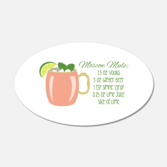 Moscow Mule Recipe Wall Decal
