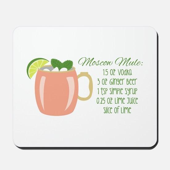 Moscow Mule Recipe Mousepad