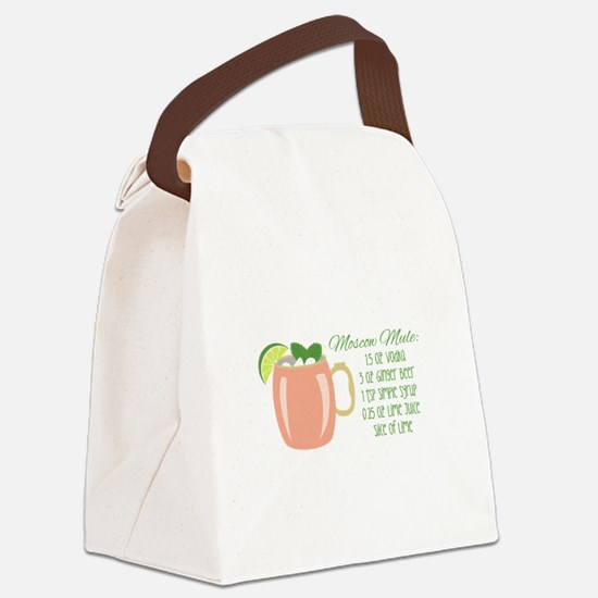 Moscow Mule Recipe Canvas Lunch Bag