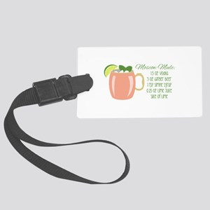 Moscow Mule Recipe Luggage Tag