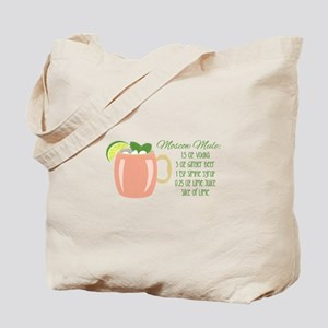 Moscow Mule Recipe Tote Bag