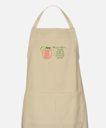 Moscow Mule Recipe Apron