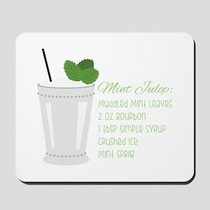 Mint Julep Recipe Mousepad