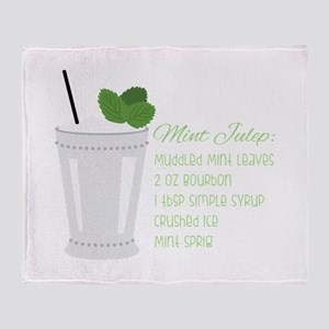 Mint Julep Recipe Throw Blanket
