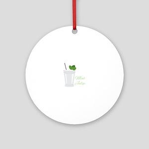 Mint Julep Round Ornament