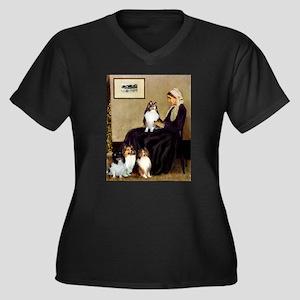 Whistler's / 3 Shelties Women's Plus Size V-Neck D