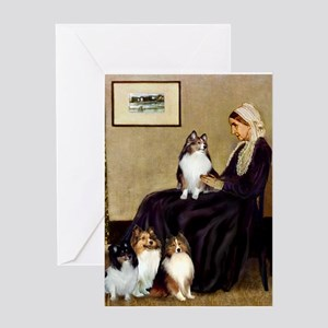Whistler's / 3 Shelties Greeting Card