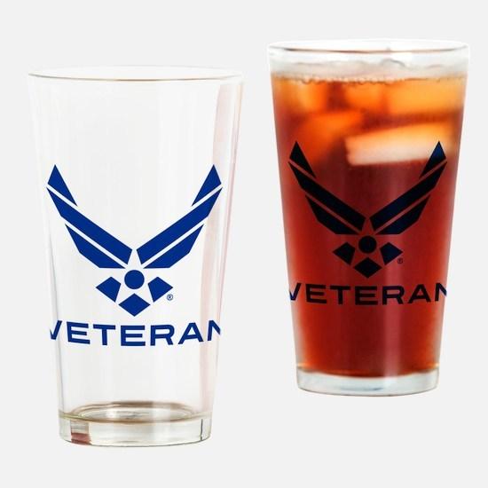 U.S. Air Force Logo Veteran Drinking Glass