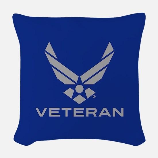 U.S. Air Force Logo Veteran Woven Throw Pillow
