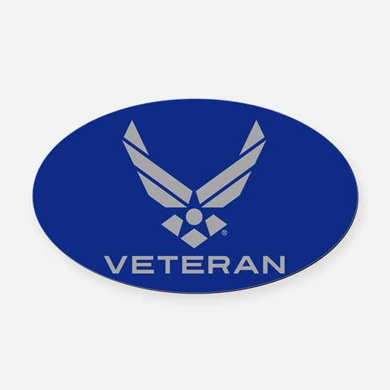 U.S. Air Force Logo Veteran Oval Car Magnet