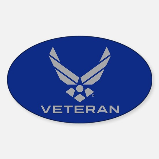 U.S. Air Force Logo Veteran Sticker (Oval)