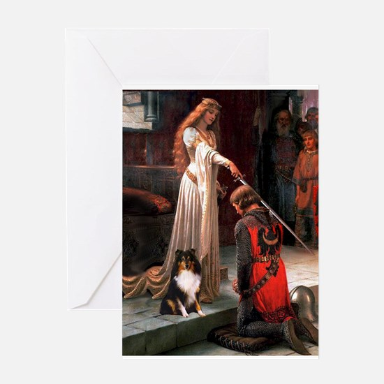 Accolade / Sheltie tri Greeting Card
