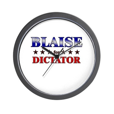 BLAISE for dictator Wall Clock