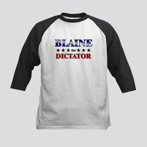 BLAINE for dictator Kids Baseball Jersey