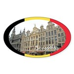 Brussels Sticker (Oval 10 pk)