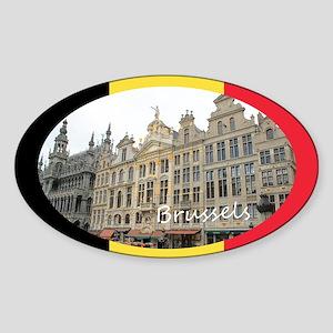 Brussels Sticker (Oval)