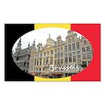 Brussels Sticker (Rectangle 50 pk)