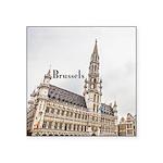 "Brussels Square Sticker 3"" x 3"""