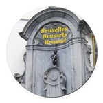 Brussels Round Car Magnet