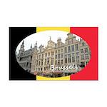 Brussels Rectangle Car Magnet