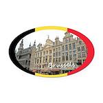 Brussels Oval Car Magnet